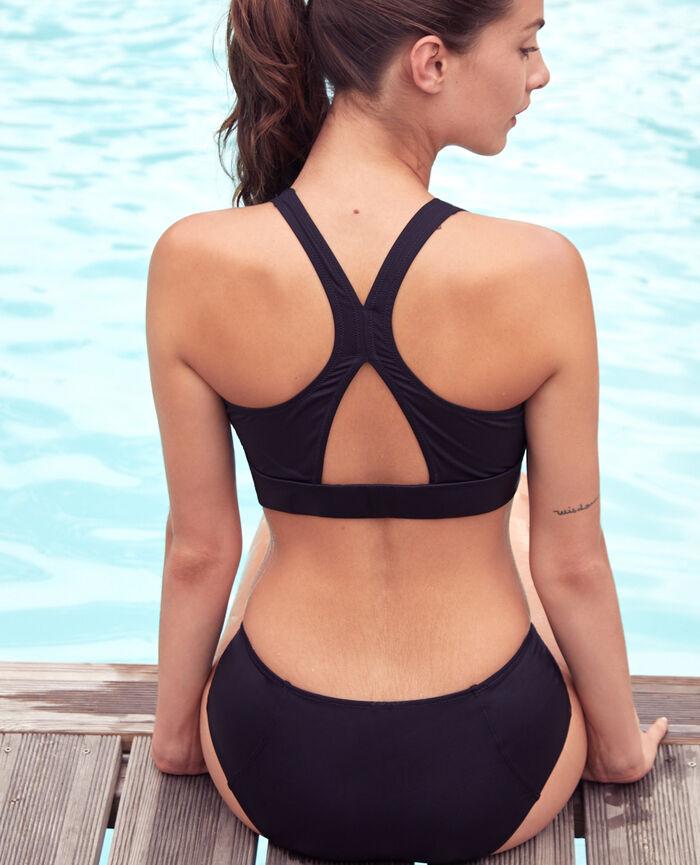 Soft sports swimsuit Black Aqua