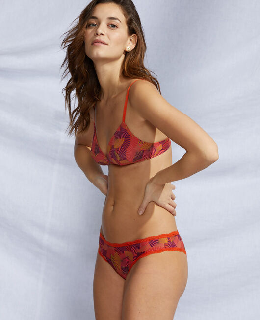 Culotte taille basse Eventail rouge tangerine Take away