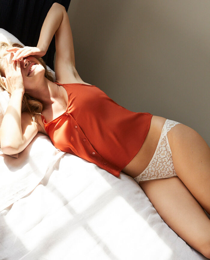 Culotte taille basse Blanc rosé Feline