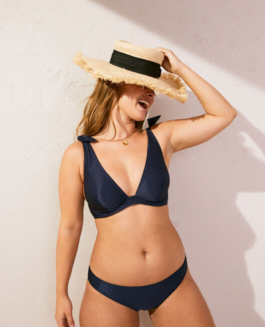 Underwired triangle bikini top Midnight blue Reve
