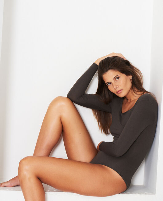 Body Smoky grey Heattech® innerwear