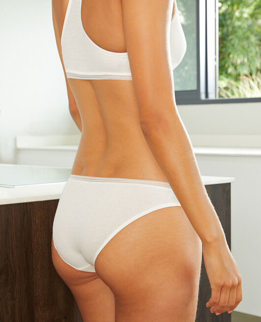 Culotte taille basse Blanc rosé Cosy
