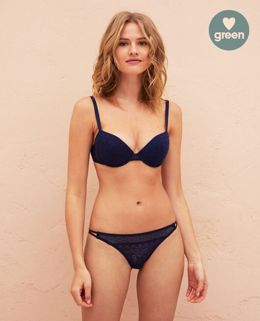 Soutien-gorge push-up mousses Bleu marine Atlas