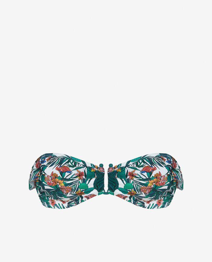 Soutien-gorge de bain bandeau sans armatures Multicolore Frida