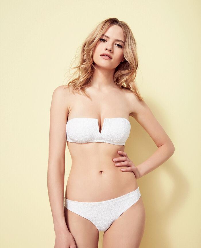 Padded strapless bikini top White Movie