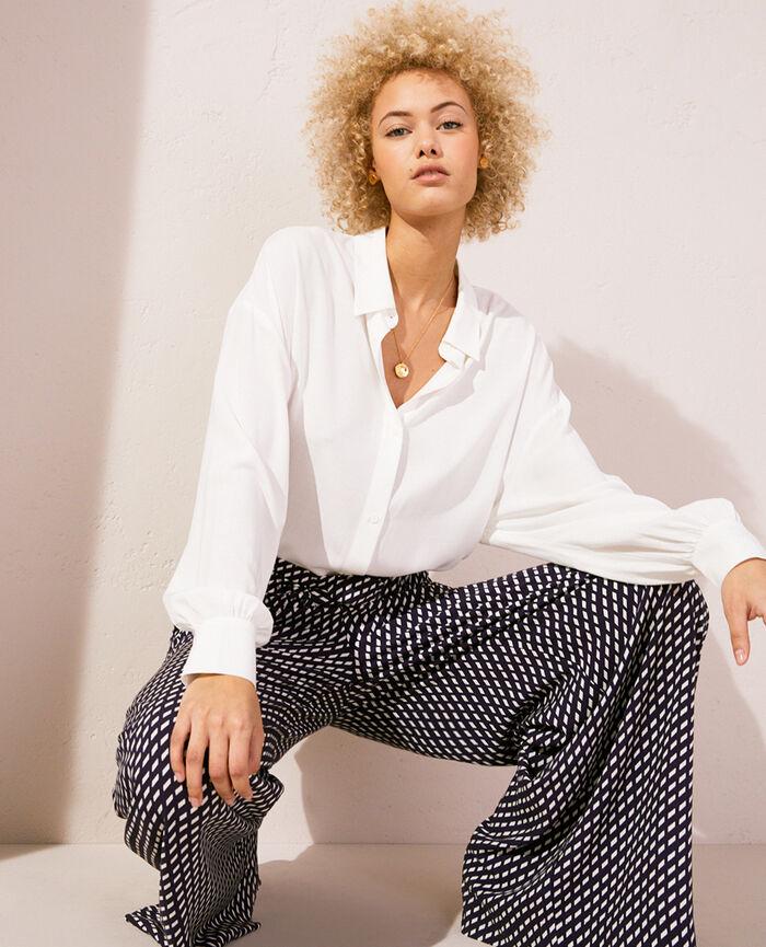 Pyjama jacket Ivory Lounge viscose