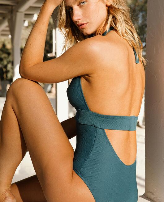 Swimsuit halterneck Emerald green Niala