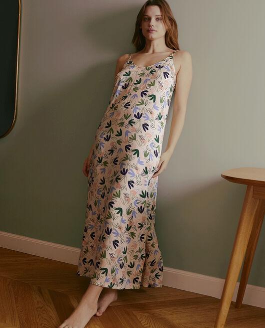 Nuisette longue Matisse blanc rosé Attitude imprime