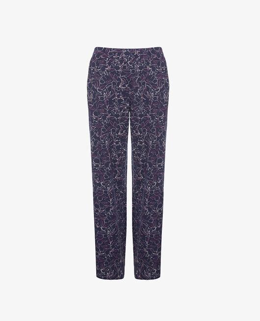 Trousers Floral blue Dimanche