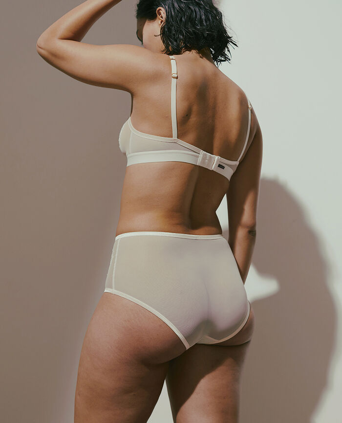 High-waisted briefs Rose white Pure