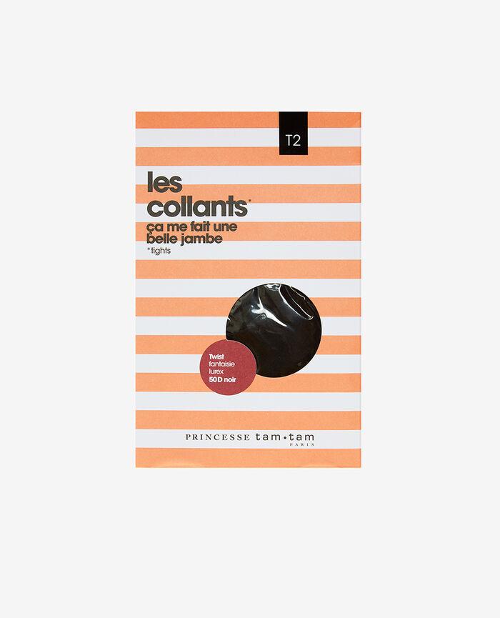 Collant fantaisie 50d Noir Twist