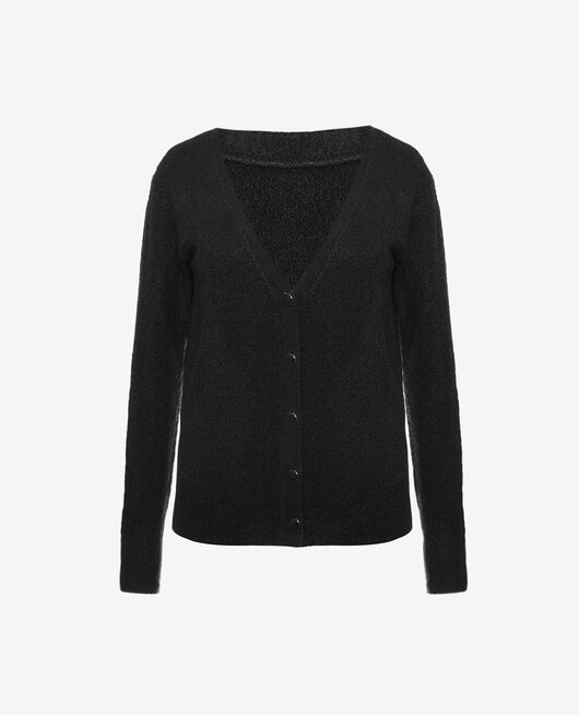 Cardigan manches longues Noir Sweet