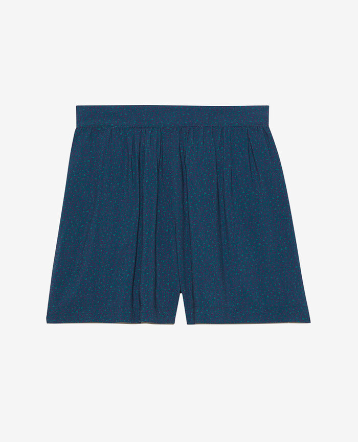 Shorts Leo blue sombrero Fancy viscose