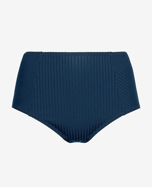 Culotte de bain taille haute Bleu sombrero Couture