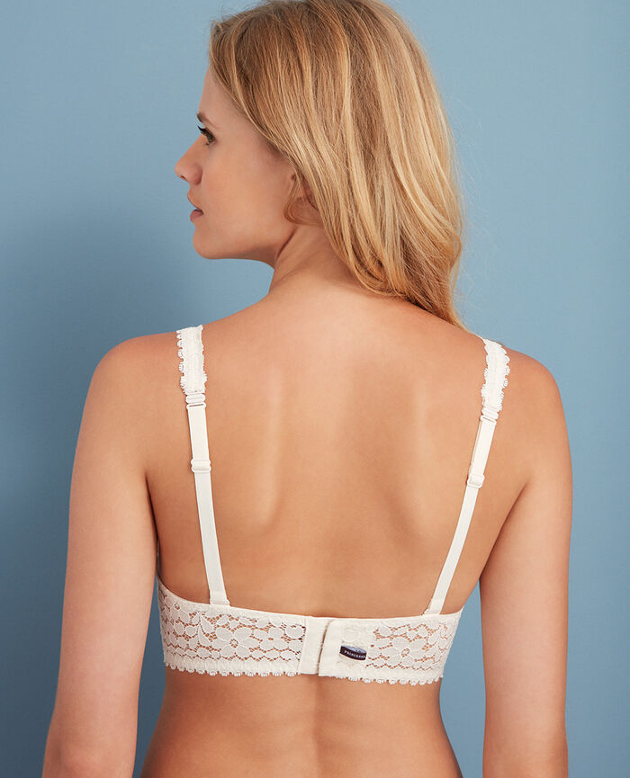 Backless triangle bra multi-position Rose white Monica