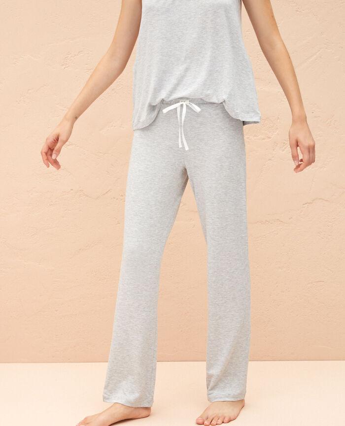 fa2dda5cb43 Pantalon de pyjama femme couleur Gris chiné - Douceur