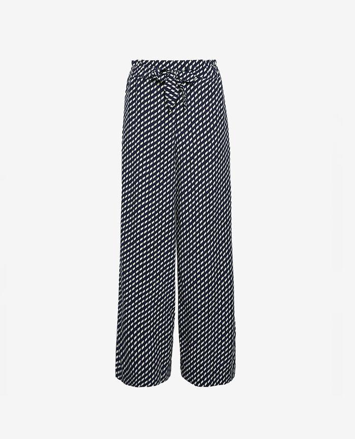 Trousers Navy blue confetti Lounge viscose