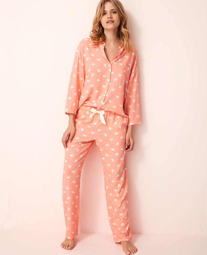 Pantalon de pyjama Olympe rose Darling