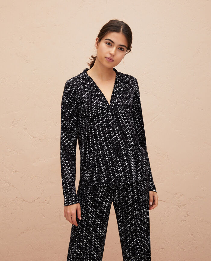Veste de pyjama Chouia noir Latte