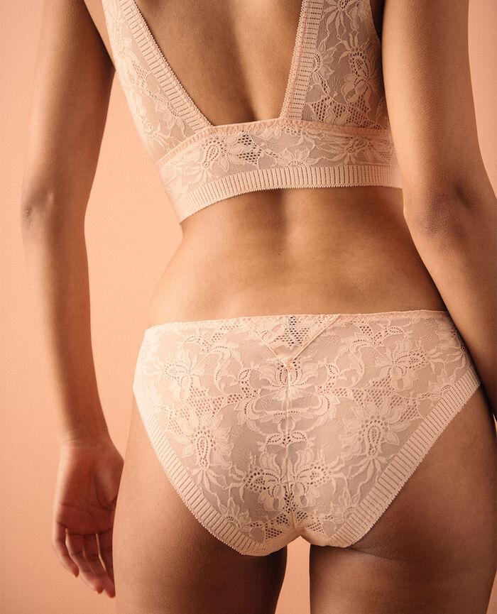 Culotte taille basse Beige poudre Audacieusement