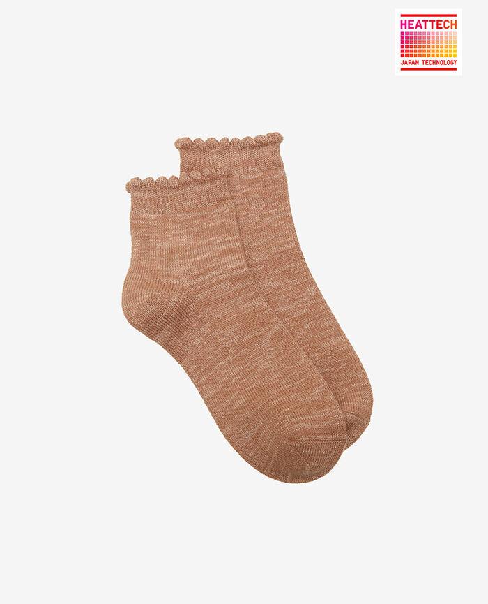 Socks Beige camel Sparkle