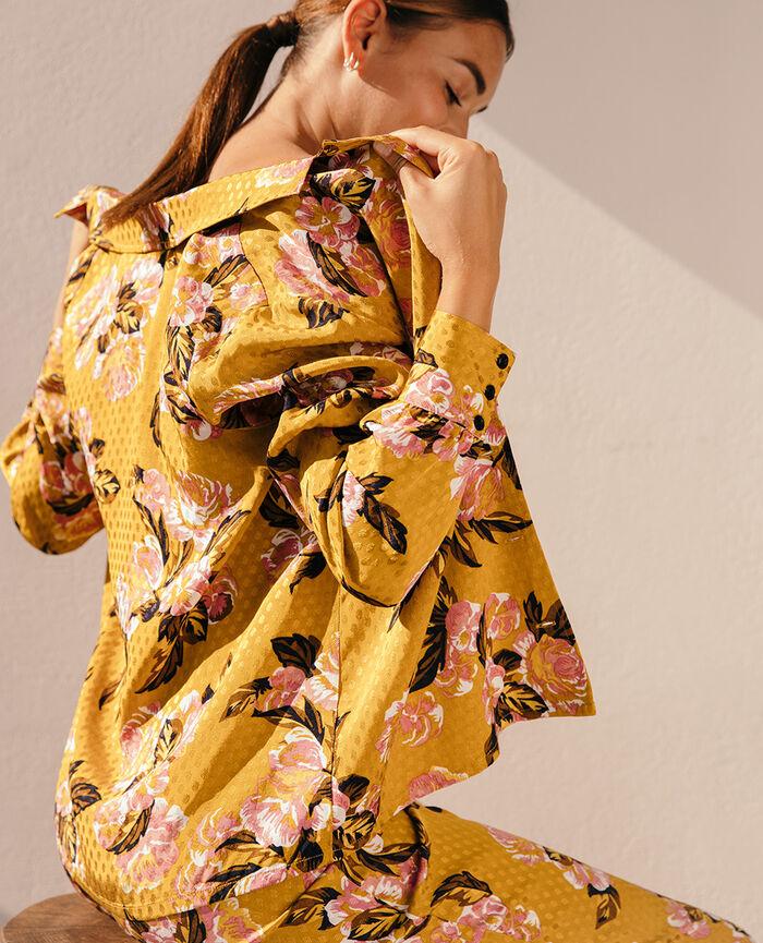 Veste de pyjama Boudoir jaune Boudoir