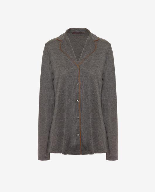 Pyjama jacket Cloud grey Latte