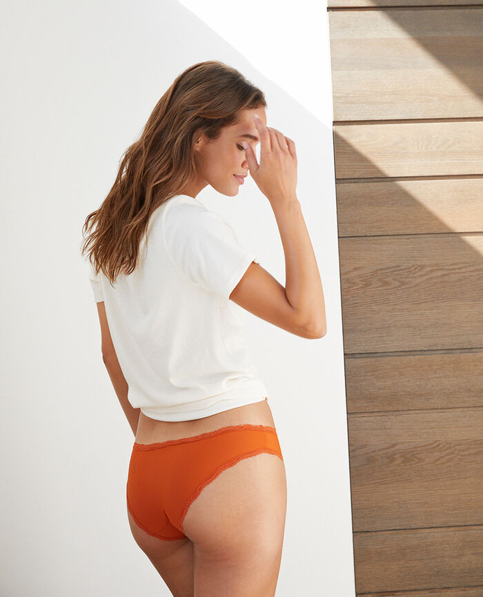 Hipster briefs Cognac brown Take away
