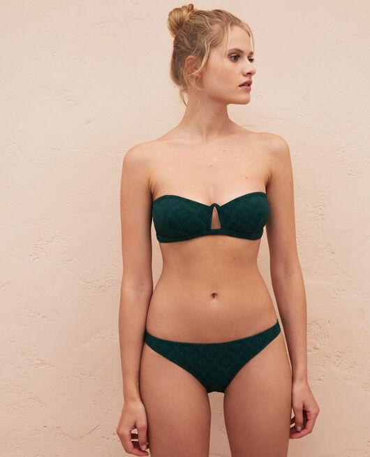 Strapless bikini top Ceramic green Yugi