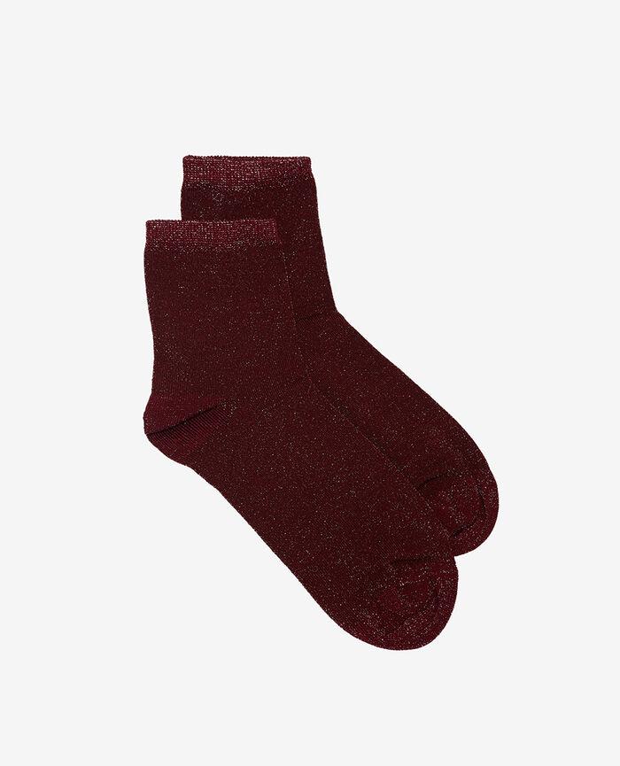 Socks Cassis red Diamond