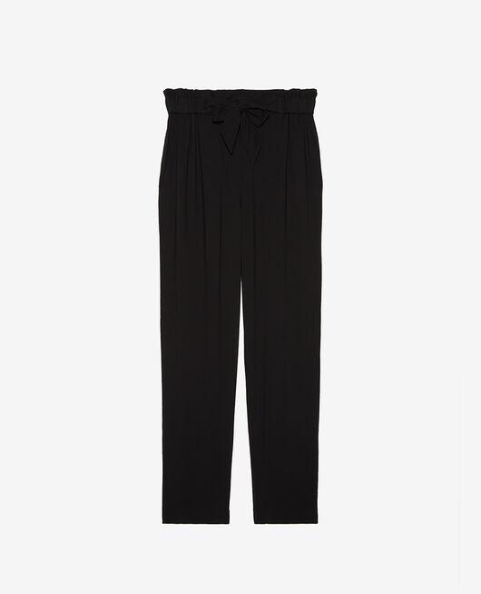 Pantalon carotte Noir Pimpant