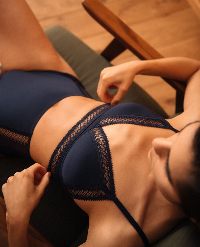 Soft cup bra Navy Eclat - the be cool