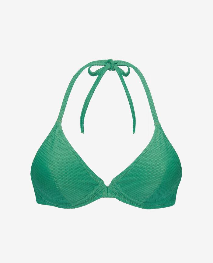 Underwired triangle bikini top Mint green Farah