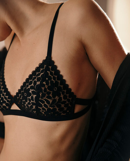Soft cup bra Black Monica