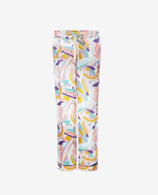 Pantalon de pyjama Color block Palazzo
