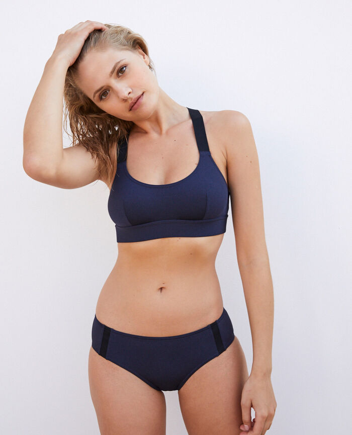 Sports bikini briefs Navy Dive
