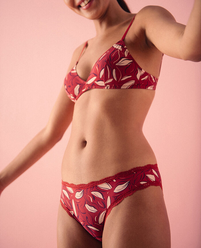 Culotte taille basse Corolle rouge brique Take away