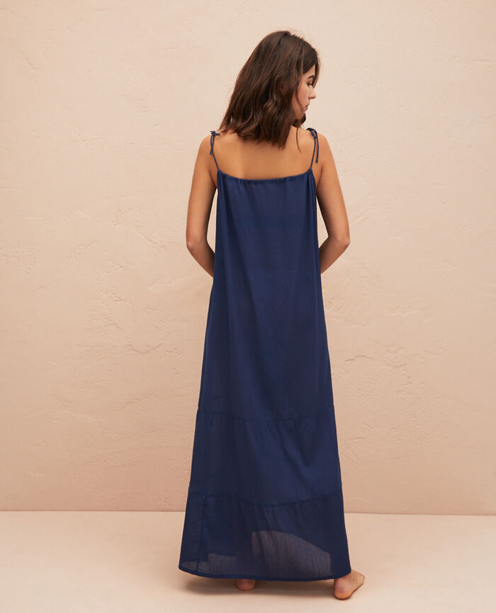 Long flared dress Midnight blue Mellah