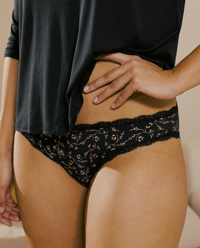 Hipster brief Black lily Take away