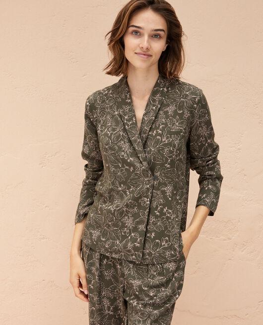 Pyjama jacket Azalee green Pictural