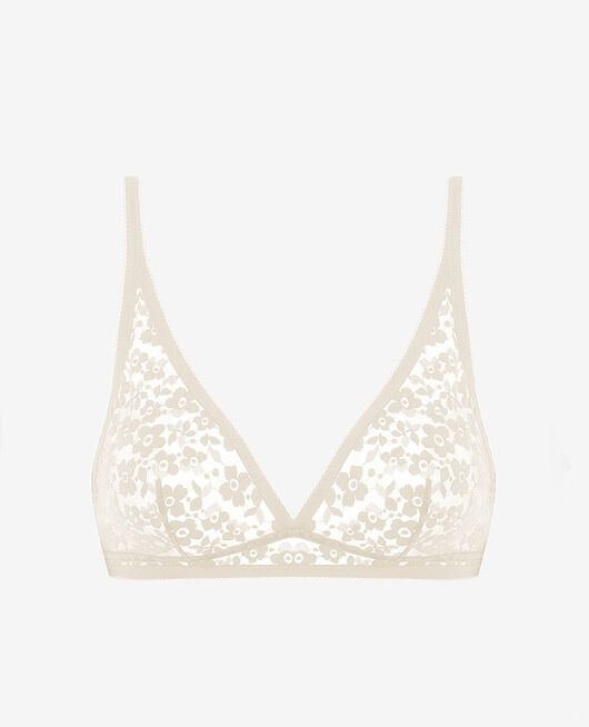 Soft cup bra Rose white Fleurs