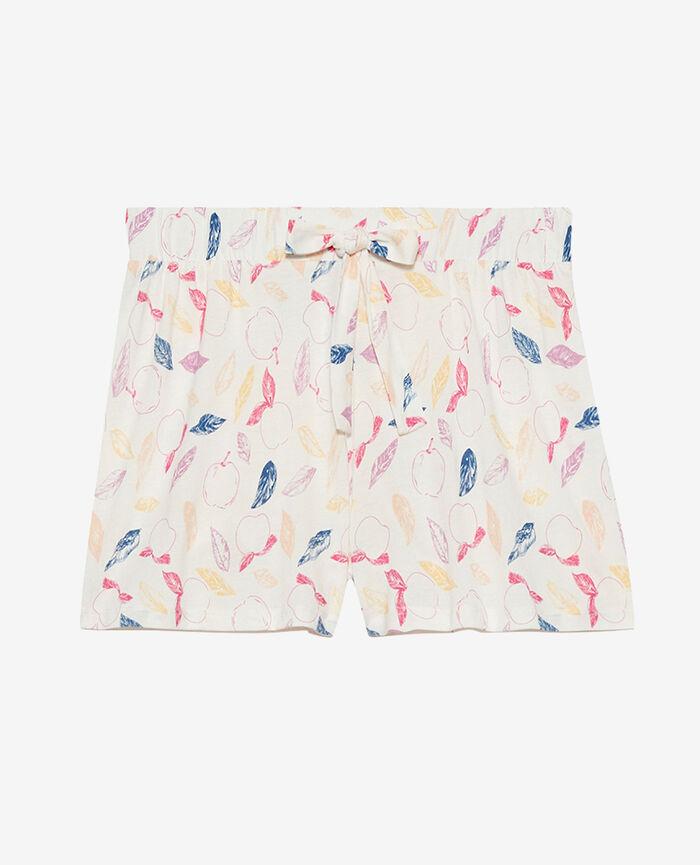 Short de pyjama Nectarine ivoire Tamtam shaker