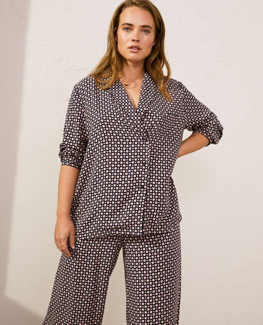 Veste de pyjama Cravate bleu marine Pyjmania