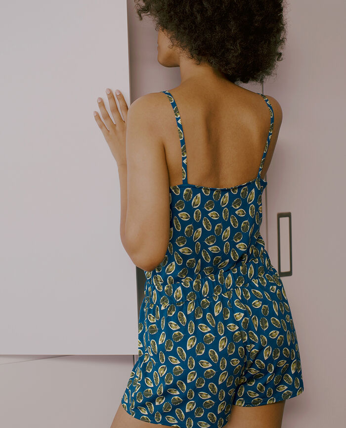 Pyjama shorts Sombrero blue ficus Tam tam shaker