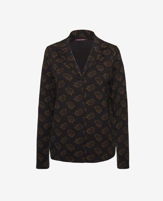 Pyjama jacket Leaves noir Dimanche
