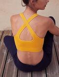 Brassière de sport maintien léger Jaune d'or Yoga