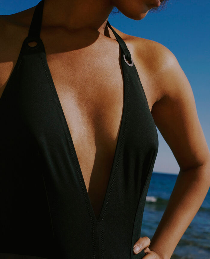 Swimsuit halterneck Black Impala