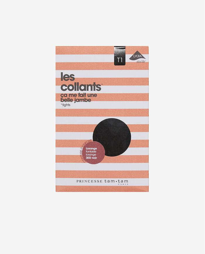 Collants 30d Noir Losange