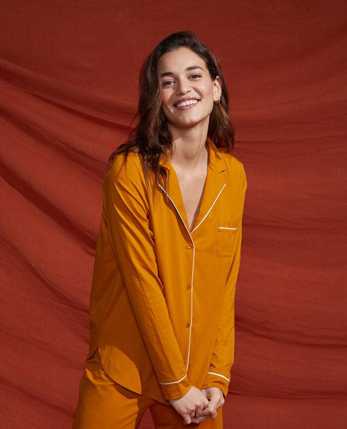 Pyjama jacket Cumin yellow Dimanche