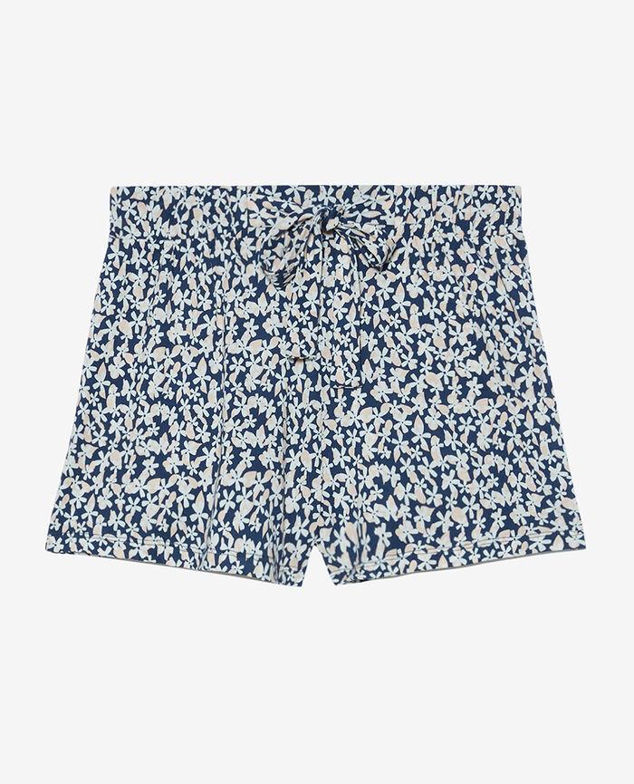 Short de pyjama Pâquerette bleu marine Tamtam shaker
